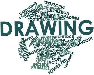 Word cloud for Drawing