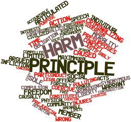 Word cloud for Harm principle