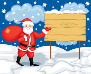 Santa and billboard