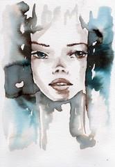Winter, cold portrait