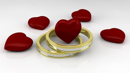 Resultado de imagen para corazones con anillos