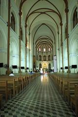 Interior of  Notre-Dame  in Ho Chi Minh. Vietnam