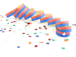 Luftschlange mit Konfetti