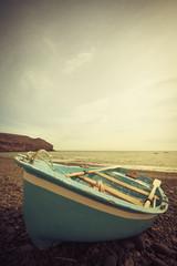Fisher boat on the beach of Fuerteventura