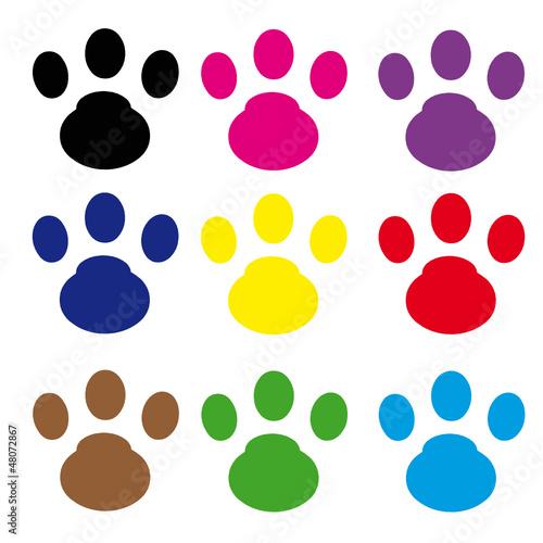 Kedi Ayak Izi 9 Adet Stok Görseller Ve Telifsiz Vektör Dosyaları
