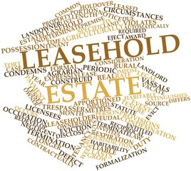 Word cloud for Leasehold estate