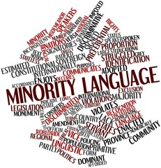 Word cloud for Minority language