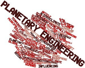 Word cloud for Planetary engineering