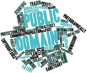 Word cloud for Public domain