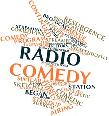 Word cloud for Radio comedy