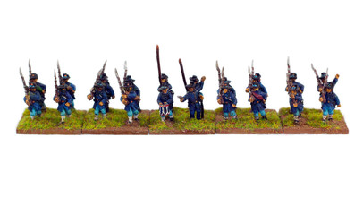 American civil war miniatures 15 mm isolated on white background