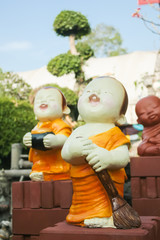 statue of little Buddhist monk