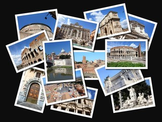 Rome postcards - photo collage