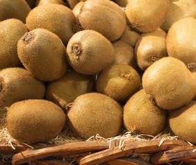basket of kiwi fruit at market