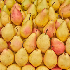 juicy pears, food background