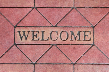 welcome sign mat