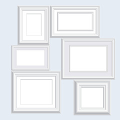 six white frames
