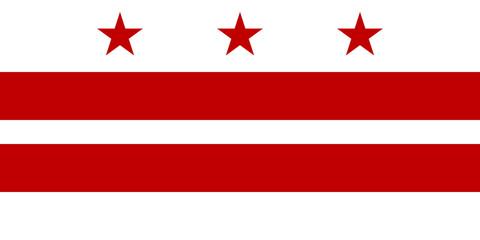 Wall Mural - Washington D.C City flag