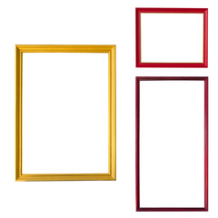 Red and gold wooden picture frame