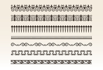 Decorative borders vector illustration