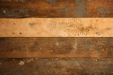 Grunge background of old wood boards - light board