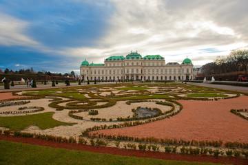 Garden Poster Vienna Schloss Belvedere in Wien