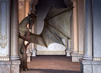 Wall Murals Dragons Drache im Gebäude