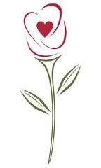 Vector rose design element for websites, blogs, advertisements, flyers, posters, backgrounds, business cards, logo, and tri-folds
