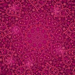 Dark Purple Love Heart Silhouette Pattern
