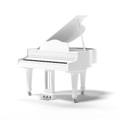 White classic grand piano