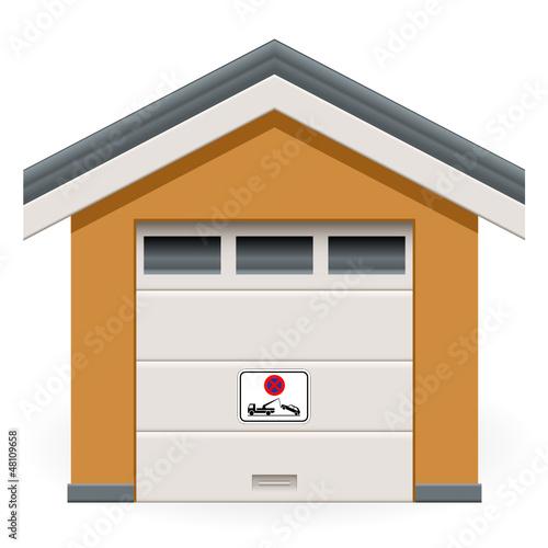 autogarage mit schild parken verboten stockfotos und lizenzfreie vektoren auf. Black Bedroom Furniture Sets. Home Design Ideas