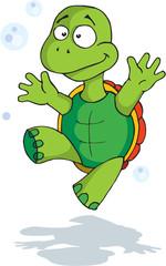 Photo sur Plexiglas Dinosaurs Happy tortoise
