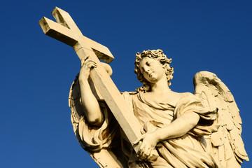 Detail der Engelsbrücke in Rom