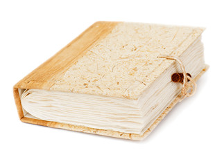 diary or photo album book isolated on white background