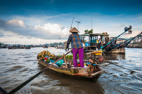 Cai Rang floating market, Can Tho, Vietnam