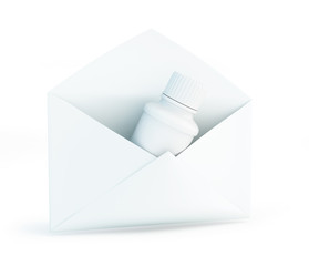 letter container for pills