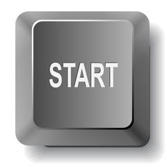 Start. Vector computer key.