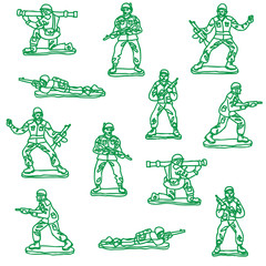 illustrated toy soldier vector