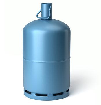 Bouteille de gaz sur fond blanc 1