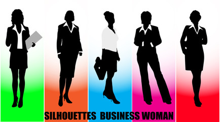 silhouettes  business woman
