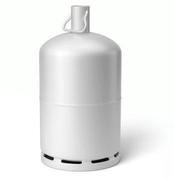 Bouteille de gaz sur fond blanc 2