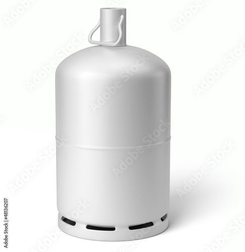 Bouteille de gaz sur fond blanc 2 photo libre de droits - Tarif bouteille de gaz ...