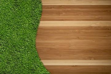 Hardwood Floor and Grass