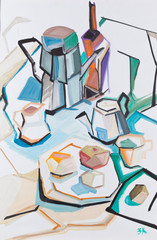 Still life with a coffee pot