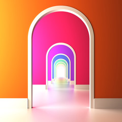 Archway to the colorful future.