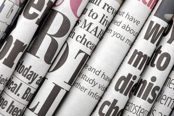 Fotobehang Kranten Newspaper headlines