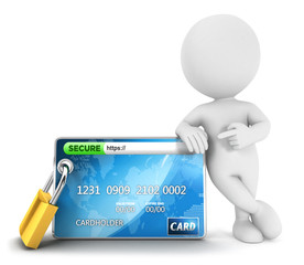 3d white people secure payment