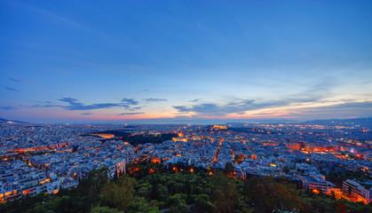 Athens after sunset
