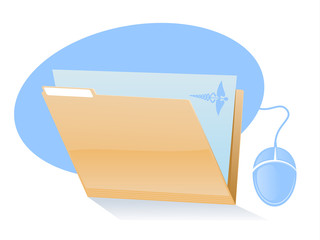 Electronic Health Records/Medical File Icon
