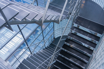 Open stairwell in a modern office building Wall mural